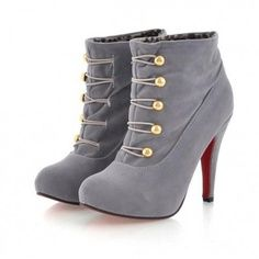 love these shoesssss! Gray military style booties