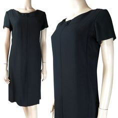 1960's Suzy Perette Little Black Cocktail Dress from thevintagegenie on Ruby Lane