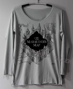The Marauder's Map Shirt Harry Potter Map by ThinkingGallery, $16.50