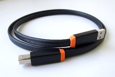 "Oyaide NEO d+: Class A USB 2.0 A to B Flat Cable, 1.0m (3.28 ft) - Black/Orange by Oyaide. $39.99. Highest quality USB 2.0 Flat Cable from Oyaide. These ""d+ series"" cables were designed with high-end audio systems in mind and ensure smooth and lossless data transmission in both the software and hardware system structure. The flat cable prevents signal loss by cable bend, and protects the signal from external/internal noise and electro-magnetic waves by combination of TPE..."