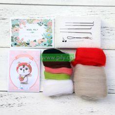 Needle Felting kits for adults (5) Needle Felting Supplies, Starter Kit, Wool Felt, Make It Yourself