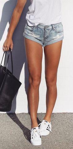 Cool Ways To Wear Denim Shorts