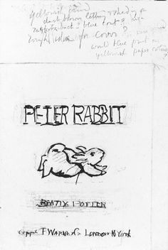 Preliminary drawing for The Tale of Peter Rabbit Beatrix Potter: The Tale of Peter Rabbit - Victoria and Albert Museum Beatrix Potter, Peter Rabbit And Friends, Book Writer, Children's Book Illustration, Book Illustrations, Victoria And Albert Museum, Childrens Books, Illustrators, Sketches