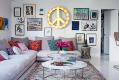 Irene Neuwirth's Beyond-Cool LA Home - One Kings Lane - Style Blog. Just what you'd expect - an ADHD asthetic. Artists...