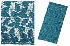 African Teal Guipure Lace fabrics Very soft by AfricanFabricsStore