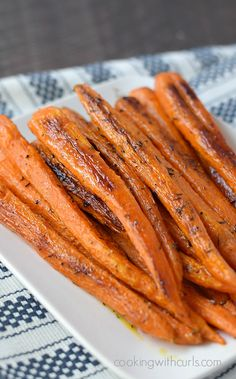This Simple Roasted Carrots recipe brings out the natural sweetness and creates a delicious side dish that the whole family will love.