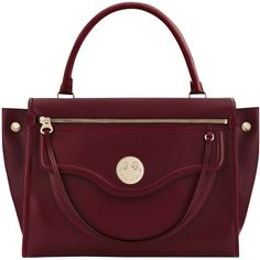 Hill and Friends Happy Zippy Leather Shoulder Bag ($650) ❤ liked on Polyvore featuring bags, handbags, shoulder bags, oxblood, purse shoulder bag, red leather purse, man bag, handbags shoulder bags and shoulder handbags