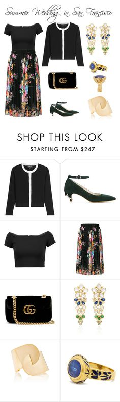 """""""Say I Do: Summer Weddings"""" by karen-galves ❤ liked on Polyvore featuring Paule Ka, Alice + Olivia, N°21, Gucci, Temple St. Clair, Jade Jagger and summerwedding"""