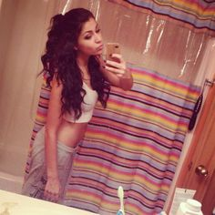 trying to pull an Ariana Grande style... pulled it off though hahaha i love her <3 { Andrea Russett }