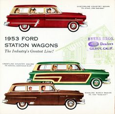 1953 Ford Station Wagons by aldenjewell on Flickr.