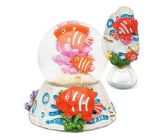 Puzzled Fish Resin Stone Finish Collection including Snow Globe and Magnet Bottle Opener - Unique Elegant Gift and Souvenir * Insider's special review you can't miss. Read more  : Home Decor Snow Globes