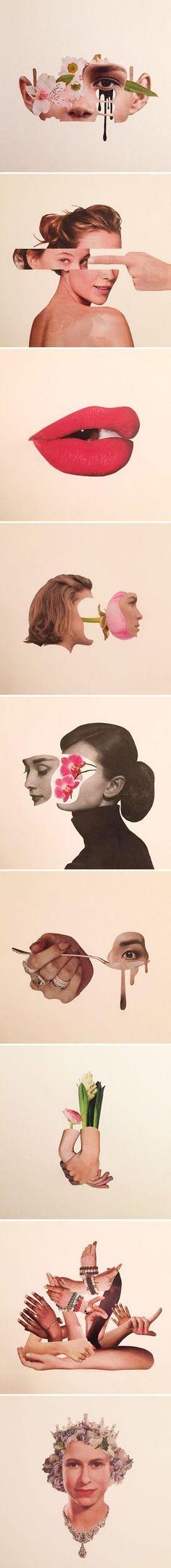 hand-cut collages by adam hale aka mr.splice