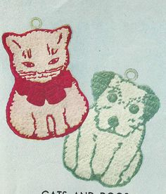 crochet potholders . . . Or sandwich two together, fill with rice and use as heat/cold packs for kids