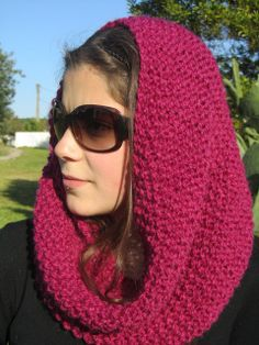 Hand Knit Cowl  Winter Accessories Winter Fashion by PomPomBlue, $31.86