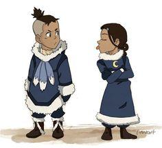 Katara and Sokka as kiddiess!
