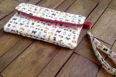 White red Wallets Fabric Cases Fabric Wallets Gadget by WitchyThai, $27.00