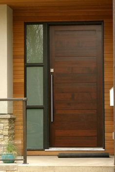 Superieur Contemporary Front Door With Pathway, Stained Glass Window, Frank Lumber  The Door Store Custom Contemporary Kcs 11