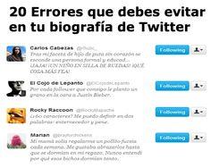 20 Errores que debes evitar en tu biografía de Twitter