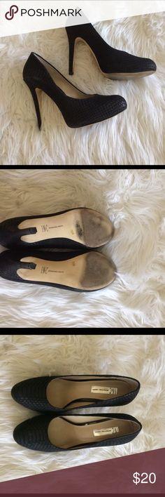 INC snake print shoes INC brand snake print leather shoes. Concealed platform. 5 inch heel. Size 7.5. INC Shoes Heels