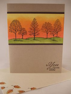"""Stampin Up """"Lovely as A Tree"""" Any Occasion Card 