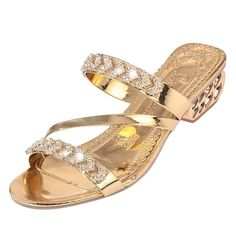 Cheap slipper shoes, Buy Quality women slippers directly from China womens slipper shoes Suppliers: VTOTA New Sandals Women Slippers Shoes 2017 Fashion Women Shoes Gold Silver Rhinestones Sandals tenis feminino high heels Diamante Sandals, Rhinestone Sandals, Huarache, Gold Fashion, Womens Fashion, Beach Flip Flops, Comfortable Heels, Thick Heels, Womens Slippers