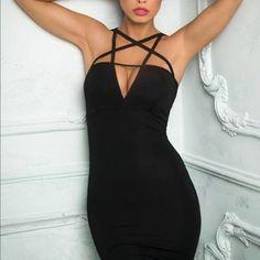 Black dress Black dress body con Laveliq Dresses