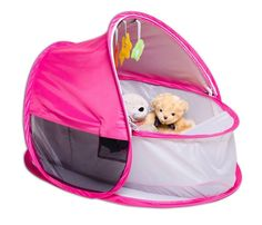 Pop Up Bassinette Pink, Pop Up Baby Travel Bed, Baby Bassinet - The Baby Factory