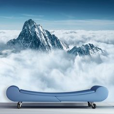 Fly into the Alpine Sky with this airy image from Mantiburi. With sweeping vistas and a serene tone, this photorealistic image will open up your space and transform it.   78$