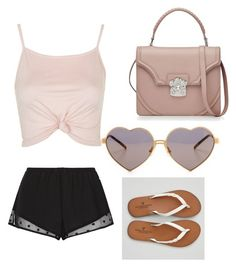 """""""The power of pink"""" by maryoneal on Polyvore featuring Princesse tam.tam, Wildfox, Alexander McQueen, Topshop and American Eagle Outfitters"""