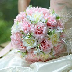 Wedding Flowers - $18.99 - Sweet Round Satin Bridal Bouquets (124032102) http://jjshouse.com/Sweet-Round-Satin-Bridal-Bouquets-124032102-g32102
