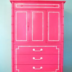 Love this hot pink piece of furniture!