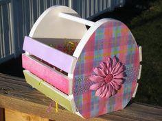 Green Eyed Girl Crafts...: Wood Easter Basket...