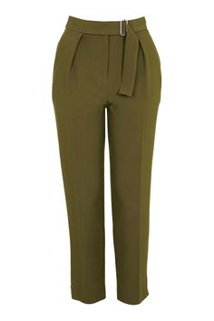 PETITE Belted Peg Trousers - Topshop