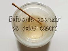 Exfoliante aclarador de axilas casero con bicarbonato de sodio y aceite de almendras