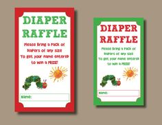 The Very Hungry Caterpillar Baby Shower Diaper by sonnyandthesquid, $4.99
