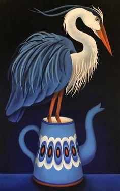 grote blauwe reiger