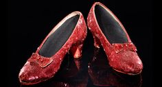 Dorothy's Ruby Reds ~ 1939, created by Gilbert Adrian, MGM Studios's chief costume designer.  Five pairs are known to exist - these were donated anonymously to the Smithsonian in 1979.