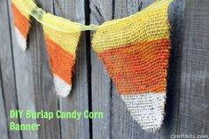 Make your own Burlap Candy Corn Banner — craftbits.com