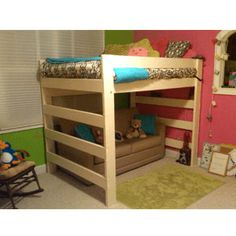 Deciding to Buy a Loft Space Bed (Bunk Beds). – Bunk Beds for Kids Bunk Beds Small Room, Bunk Bed With Desk, Cool Bunk Beds, Bunk Beds With Stairs, Kids Bunk Beds, Loft Bed Plans, Murphy Bed Plans, Loft Spaces, Small Spaces