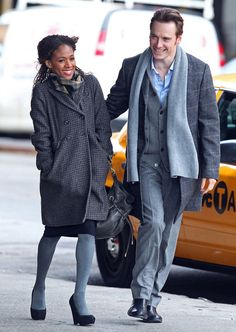 Michael Fassbender and Nicole Beharie Photos Photos - Michael Fassbender and Nicole Beharie film a scene for 'Shame' in the Meatpacking District of Manhattan in New York City, NY. - Michael Fassbender And Nicole Beharie On The Set Of 'Shame' In New York