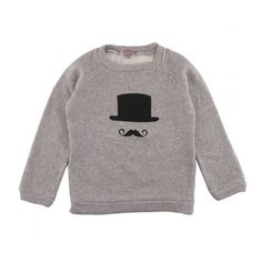 Grey Jumper with mustache - oh my WORD. It matches my blog logo! LOVE!