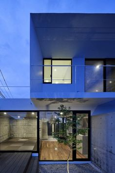 This strikingly modern home is located in the suburbs of Sendai, and is designed by the amazing talent at Apollo Architects and Associates.