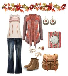 """""""Summer to Fall #5"""" by gillgal on Polyvore featuring American Eagle Outfitters, maurices and VIPARO"""