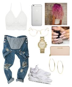"""""""Ion know"""" by baby-crooksanford ❤ liked on Polyvore featuring Ray-Ban, Michael Kors, Native Union and NIKE"""