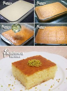 Revani Recipe, How To? – Feminine Recipes – Delicious, Practical and Most Exquisite Recipes Site - Kuchen Turkish Sweets, Bulgarian Recipes, Puff Pastry Recipes, Most Delicious Recipe, Recipe Sites, Easy Meal Prep, Iftar, Chocolate Desserts, Cheesecake Recipes