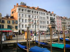 Hotel Londra Palace is where we spent one night in May 2010 before our Mediterranean cruise. This hotel is grand, right off San Marco Square and overlooking the Grand Canal, simply spectacular. Well worth the money for one night. We had the view that opened out to the canal, will post another pic of our view. Venice Italy.