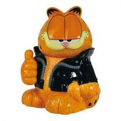 Garfield Too Cool Cookie Jar- Collectible Handpainted Ceramic Orange Cat for sale online