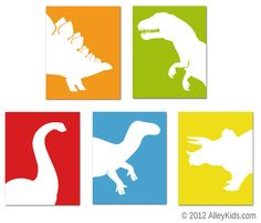 Dinosaur Number Poster, 123 print