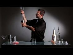 How to Do a Flip to Pour Bottle Trick   Flair Bartending