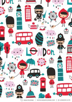 Inga Wilmink for London Cute - London fabric